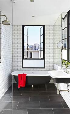 Black Tile Bathroom Ideas 10 Timeless Black White Bathrooms Bathroom Floor Tiles