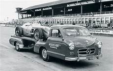 mercedes 1950 s race car transporter