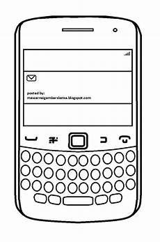 Mewarnai Gambar Mewarnai Gambar Sketsa Handphone 5