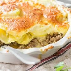 Hackfleisch Kartoffel Auflauf - kartoffel hack auflauf mit kohlrabi und rahmsauce