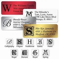 monogram foil address labels current catalog