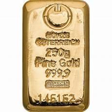 gold bar 250g austrian mint