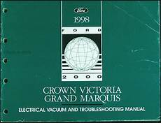 automotive repair manual 1998 ford crown victoria on board diagnostic system 1998 crown victoria and grand marquis electrical vacuum manual 98 ford mecury ebay