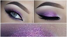 Easy Purple Eyeshadow Makeup Tutorial Glitter