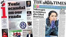 newspaper headlines vw fall out charity regulator plans