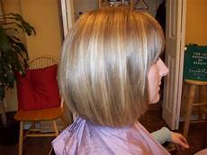 back view of short aline angled bob haircuts after smashing sleek one lenghth a line bob