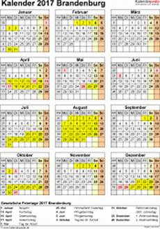 Kalender 2017 Brandenburg Ferien Feiertage Pdf Vorlagen