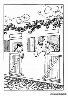 ausmalbilder pferd stall kostenlos zum ausdrucken