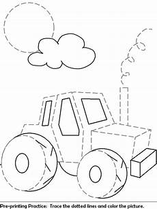 tracing paper worksheets 15649 truck or tractor