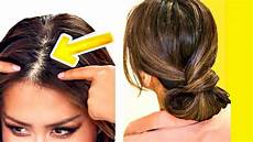 2 minute elegant bun for thin hair easy updo hairstyles for youtube