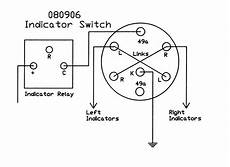 7 Pin Hazard Switch Wiring by Rotary Switch Black Plastic Lever And Integral