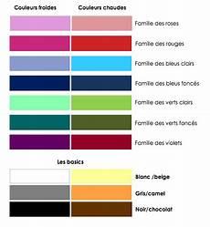 couleur chaude froide couleurs froides et couleurs chaudes mode association