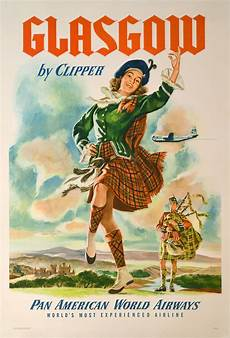 vintage travel posters of glasgow and london the vintage inn