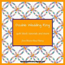 about double wedding ring quilt block tutorials and more