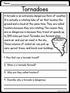 writing comprehension worksheets for grade 2 22810 reading comprehension passages and questions nonfiction reading comprehension passages