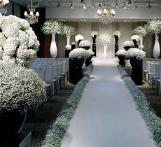 baby s breath abounds in this chanel inspired ceremony setup floral fix in 2019 wedding