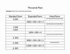 place value worksheets expanded form 5087 place value expanded notation word form standard form tpt