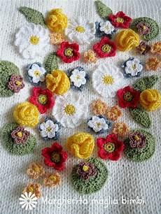 fiori di ai ferri copertina primavera in puro cotone fatta a mano ai ferri e