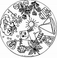 Malvorlage Jahreszeiten Mandala Mandalamix Im Kidsweb De
