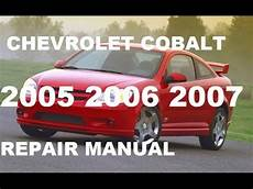 car maintenance manuals 2007 chevrolet cobalt user handbook chevrolet cobalt 2005 2006 2007 repair manual youtube