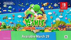 Malvorlagen Mario Und Yoshi Crafted World Yoshi S Crafted World Launches March 29 New Trailer