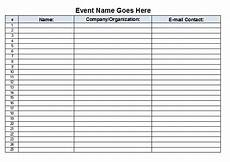 the admin download free event sign in sheet template excel format