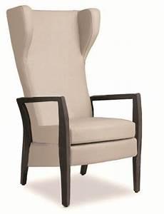 fauteuil avec dossier haut fauteuil iris dossier haut fixe avec oreilles