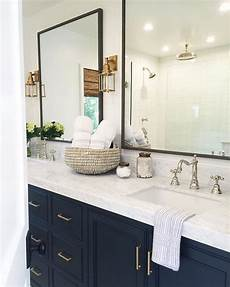 Bathroom Ideas Navy by Brass Navy His Hers Mindygayerdesign Bath
