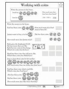 money word problem worksheets counting coin greatschools