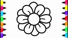 cute flower coloring page drawing coloring learning colors