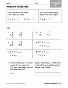 addition using properties worksheets for grade 1 9477 addition properties homework 2 1 1st 2nd grade worksheet lesson planet