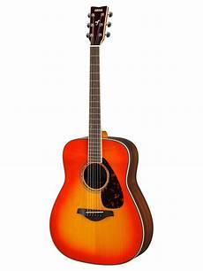 top acoustic guitars yamaha fg830 solid top folk acoustic guitar autumn burst ebay