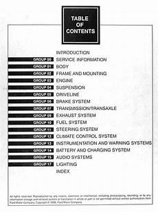 free auto repair manuals 1997 mercury villager electronic toll collection 1997 mercury villager repair shop manual original