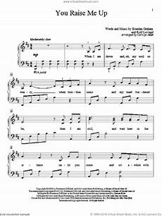 groban you raise me up sheet music beginner for piano solo elementary