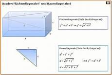 raumdiagonale berechnen