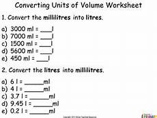measurement worksheets printable 1560 converting and comparing units of volume year 4 powerpoint and worksheets teaching resources