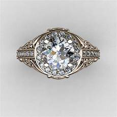 italian 14k rose gold 1 0 ct cubic zirconia diamond