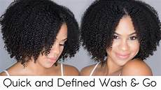 quick and defined wash n go natural hair youtube