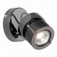 endon lighting benno single light halogen ceiling or wall spot light fitting in black chrome