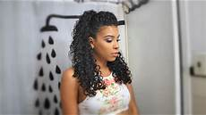 curly hairstyle half up half down youtube