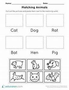 animals phonics worksheets for kindergarten 14220 critter crossword bugs worksheets kindergarten and social studies