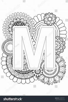 alphabet mandalas coloring pages 17864 doodle floral letters coloring book for mandala and sunflower abc book isolat