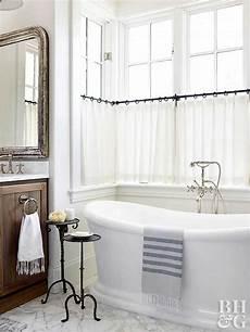 bathroom window treatment ideas better homes gardens