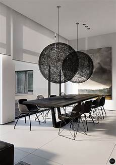 sala da pranzo design sala da pranzo e nera 25 idee per un arredamento