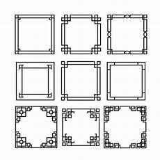 cornici illustrator collezione cornici decorative scaricare vettori gratis