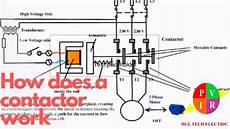 how does a contactor work what is a contactor contactor wiring diagram youtube