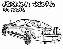 Car Ford Mustang Shelby GT 500 2008 Coloring Pages  Best
