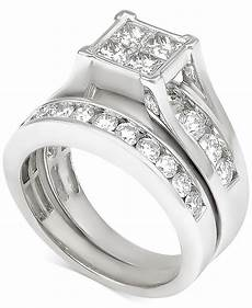 macy s diamond bridal 2 ct t w in 14k white gold reviews rings jewelry