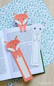 Lesezeichen Basteln Aus Papier - printable fox bookmarks diy bookmarks easy peasy and