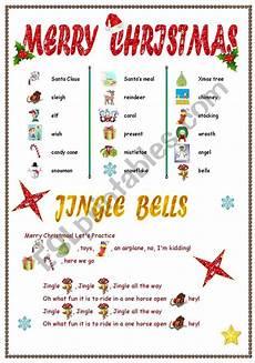 new jingle bells esl worksheet by provincespace